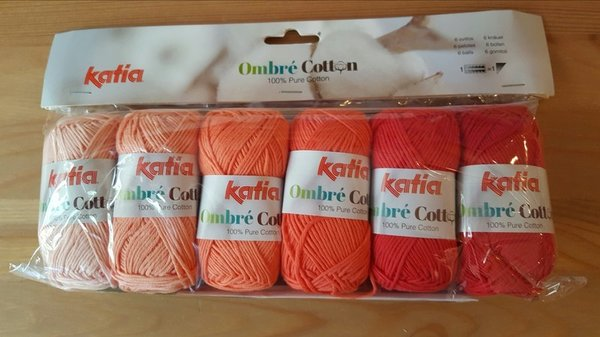 Katia Ombré Cotton Orange